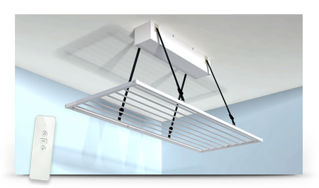 Tendedero de techo motorizado toldos pozuelo toldos y - Tendederos de pared plegables ...